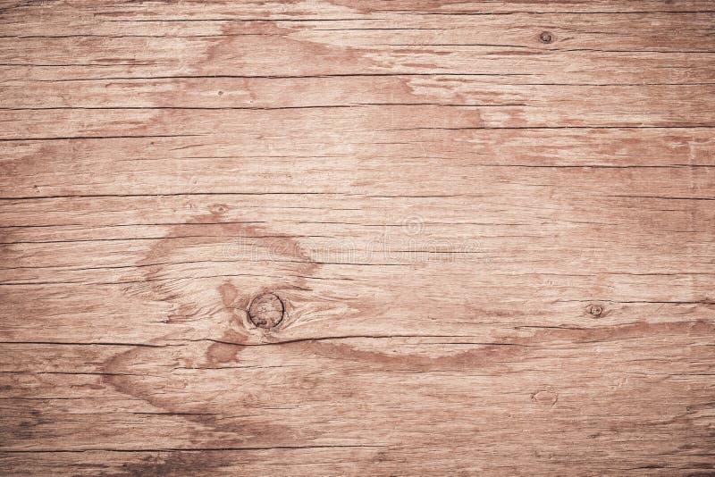 Zusammenfassungs-brauner hölzerner Hintergrund, gestreifter Bauholzschreibtisch der Planke, Draufsicht der braunen hölzernen Tabe lizenzfreies stockfoto