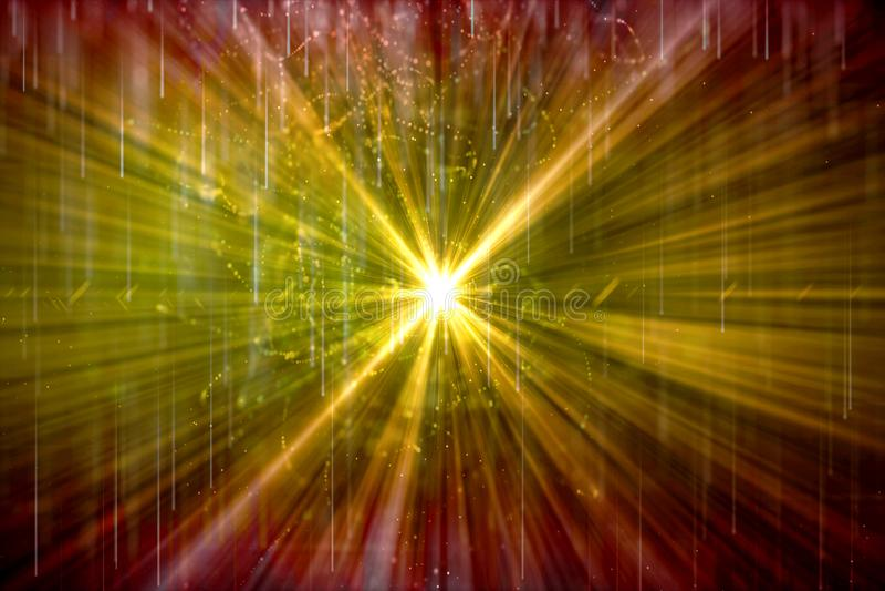 Zusammenfassungs-explodiert künstlerische Digital-Energie glatt in einen Grafik-bunten Hintergrund vektor abbildung