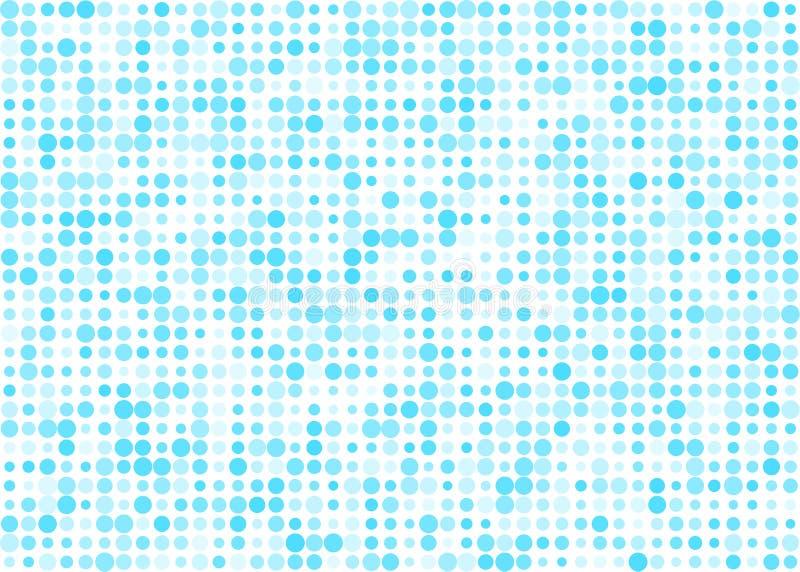Zusammenfassungs-glänzendes blaues Halbton Dots Pattern im weißen Hintergrund lizenzfreie abbildung