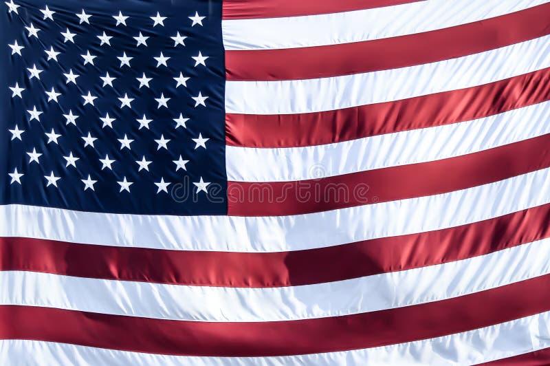 Zusammenfassungs-Hintergrund der amerikanischen Flagge - Sterne u. Streifen stockfoto