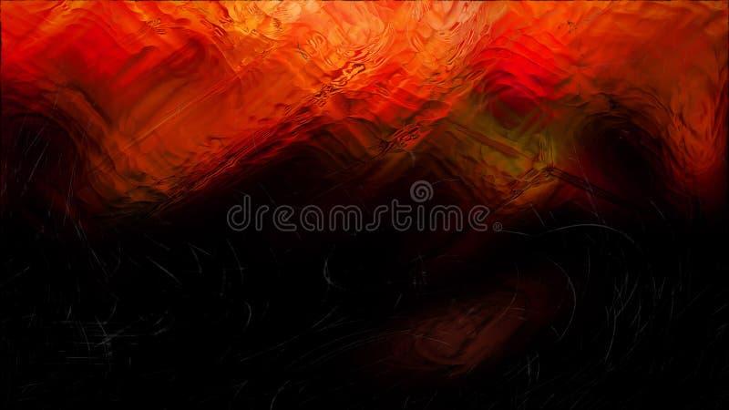 Zusammenfassungs-kühler orange Glaseffekt-Malerei-Hintergrund stock abbildung