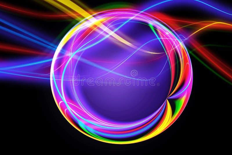 Zusammenfassungs-künstlerischer mehrfarbiger Digital angezogener Kreis-Grafik-Hintergrund vektor abbildung