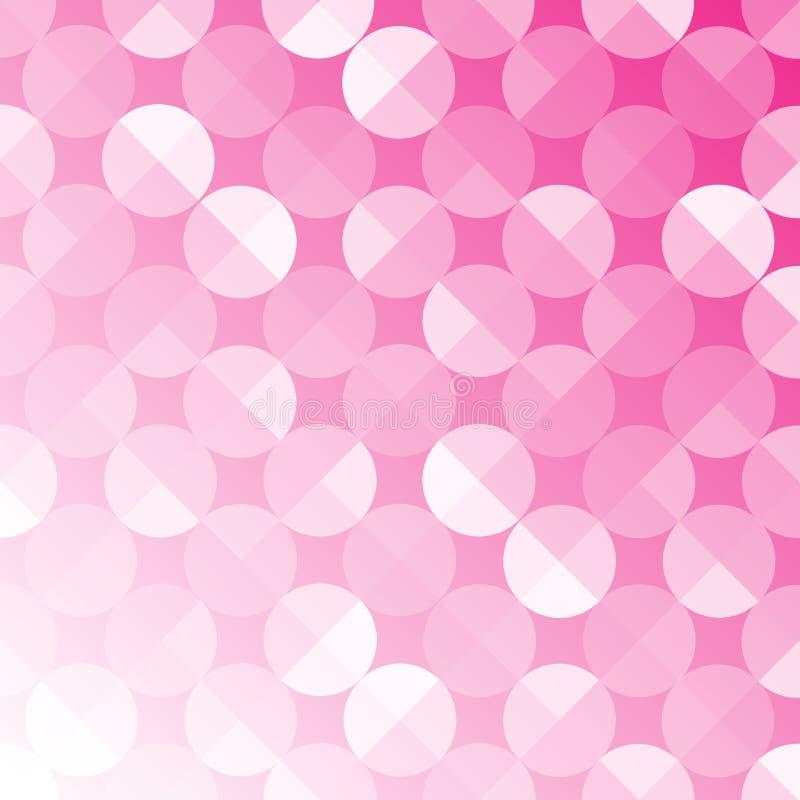 Zusammenfassungs-nahtloses glänzendes Kreis-Muster in rosa Hintergrund Gradated lizenzfreie abbildung