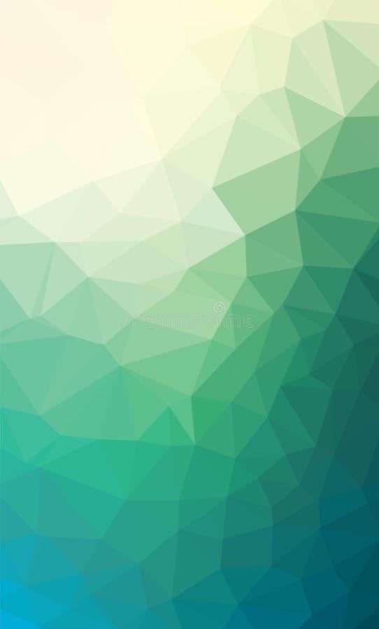 Zusammenfassungs-Niedrig-Polydreieckiger moderner geometrischer Hintergrund Bunte polygonale Mosaik-Muster-Schablone Wiederholen  lizenzfreie abbildung