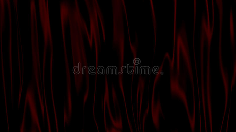 Zusammenfassungs-Schwarzes der Illustrations-3D mit rotem Hintergrund lizenzfreie abbildung