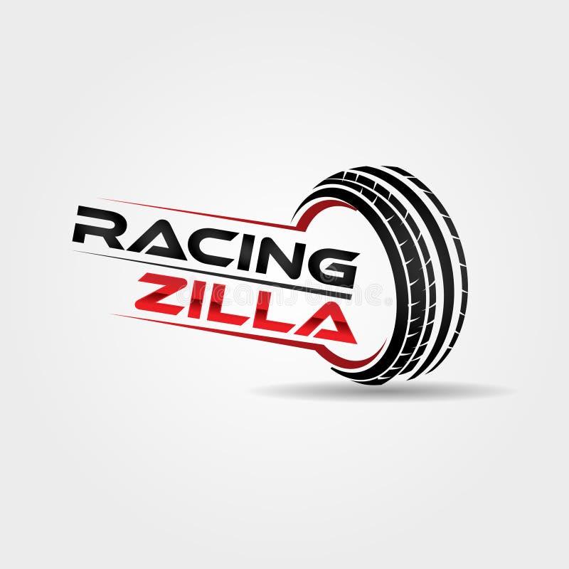 Zusammenfassungs-Sport-laufender Automobilreifen Logo Symbol lizenzfreie abbildung