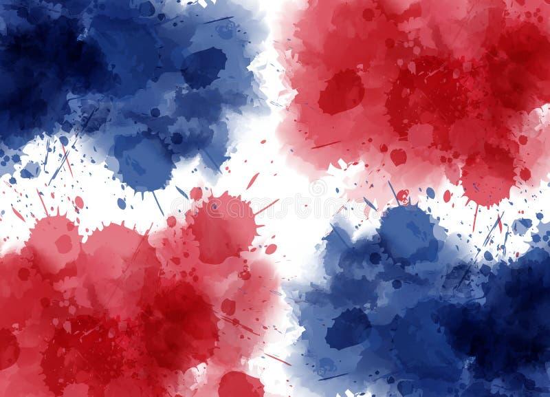 Zusammenfassungsflagge der Dominikanischen Republik vektor abbildung