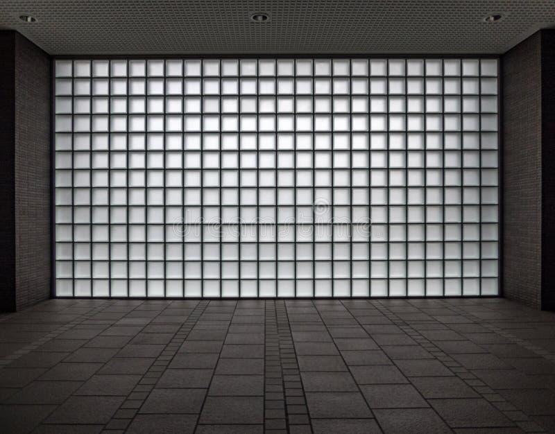 Zusammenfassungsgeometrische Glasplatte, Osaka, Japan lizenzfreie stockfotos