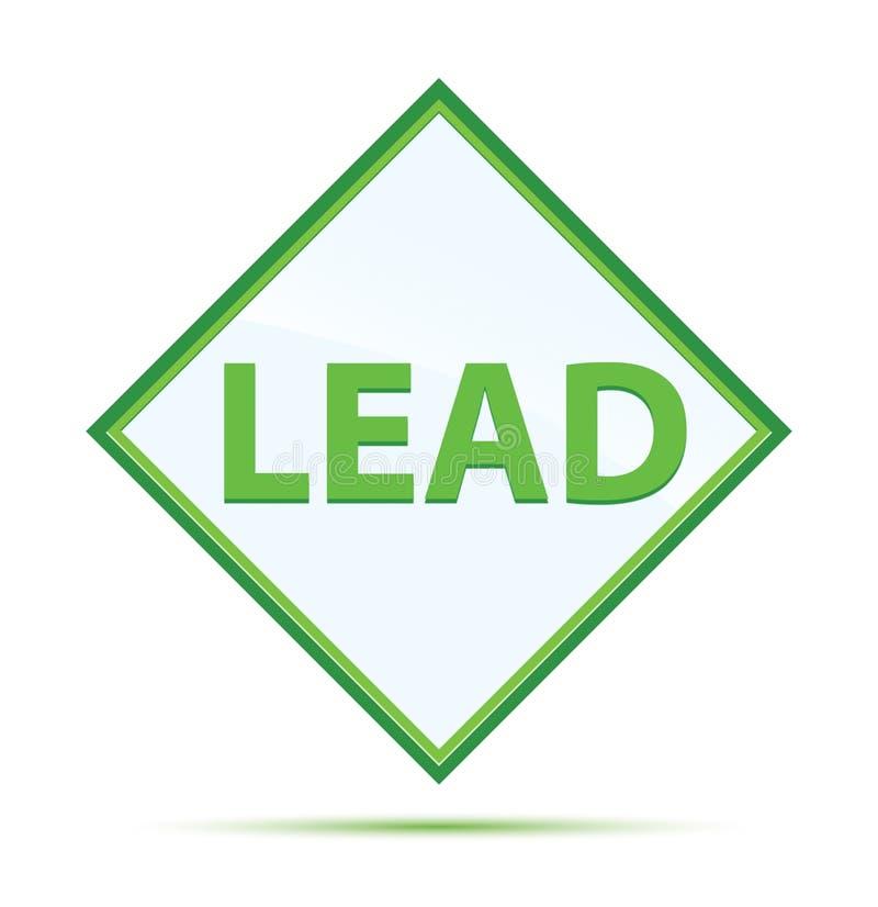 Zusammenfassungsgrün-Diamantknopf der Führung moderner lizenzfreie abbildung
