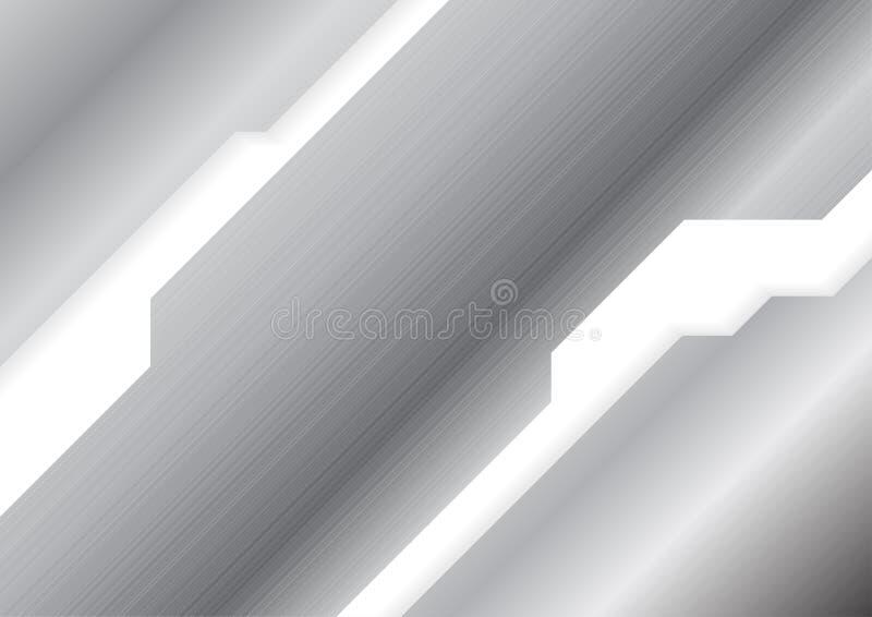 Zusammenfassungsgrauer metallischer Stahlbeschaffenheitshintergrund vektor abbildung