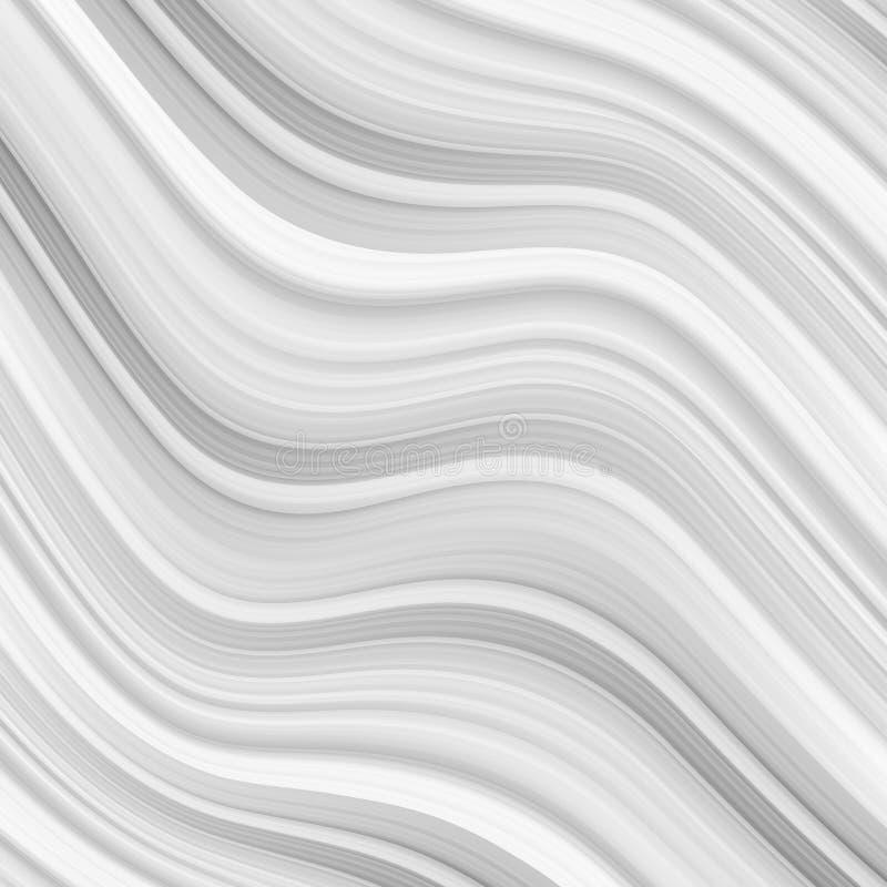 Zusammenfassungshintergrund Luxus-graycloth oder flüssige Wellen- oder gewelltefalten der Schmutzseidenbeschaffenheit stock abbildung