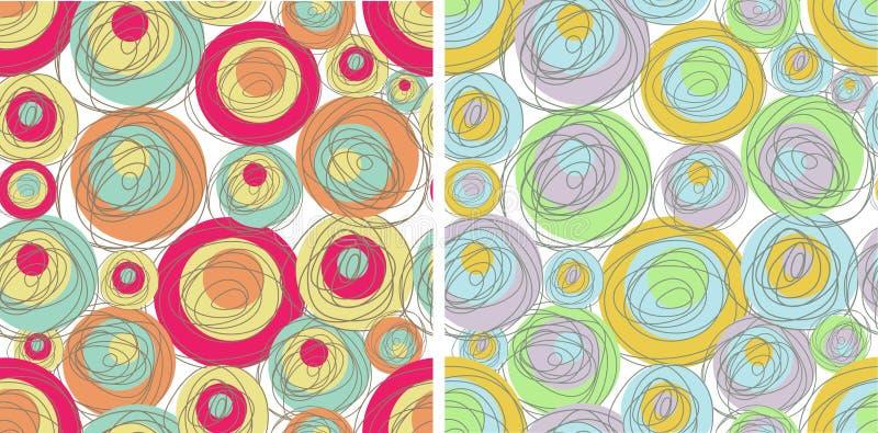 Zusammenfassungssatz nahtlose Muster vektor abbildung