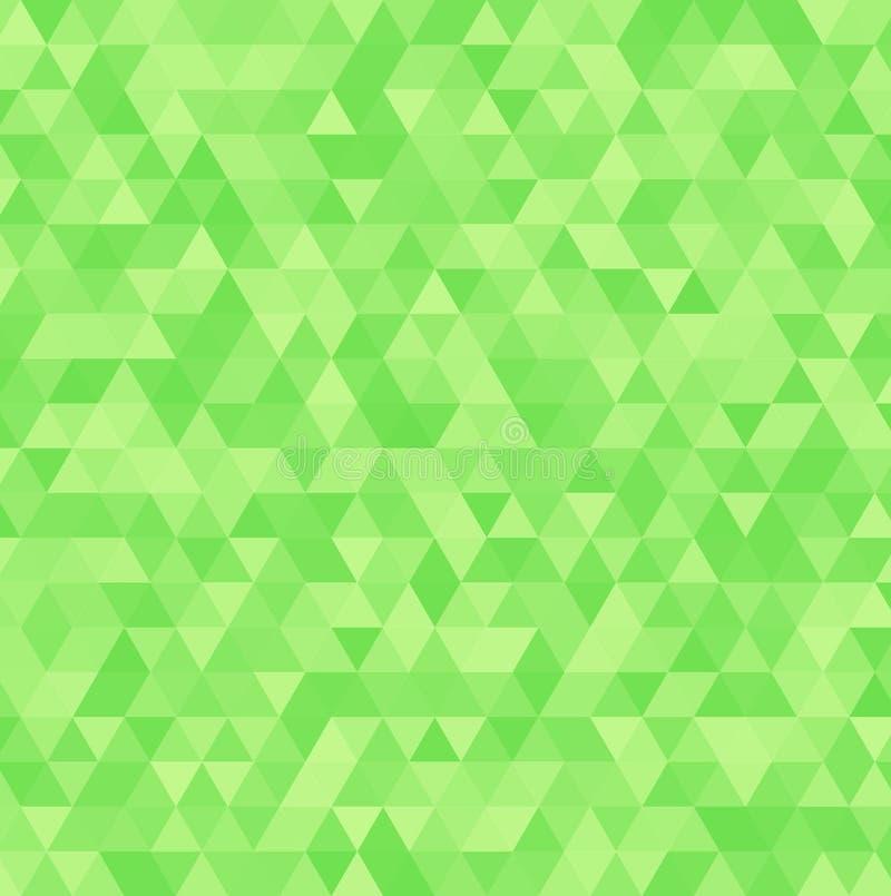 Zusammenfassungsvektorgrün-Dreieckhintergrund Geometrisches weißes Beschaffenheitsmuster vektor abbildung