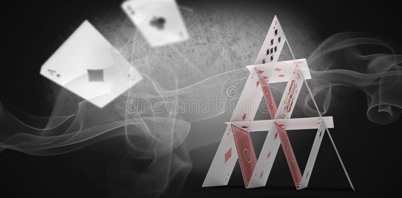 Zusammengesetztes Bild 3d des mehrfarbigen Rauches gegen weißen Hintergrund vektor abbildung