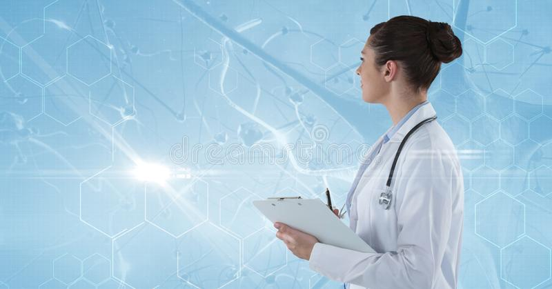 Zusammengesetztes Bild der Ärztin lizenzfreie abbildung