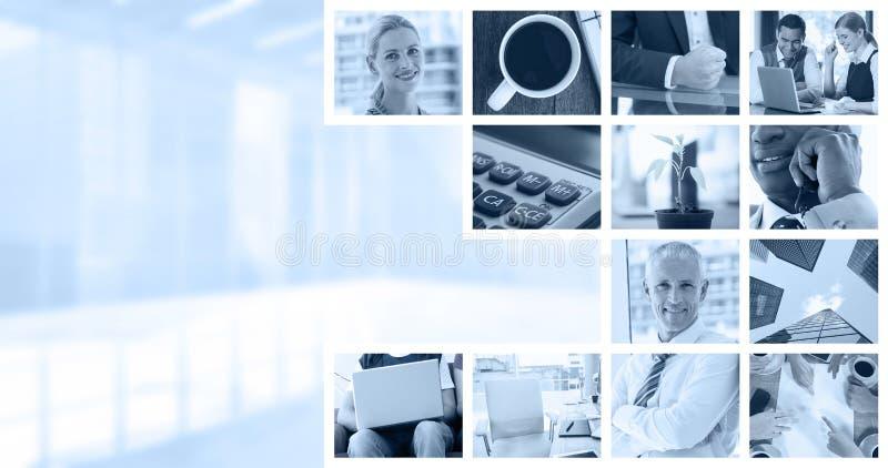 Zusammengesetztes Bild der Anlage auf Schreibtisch im Büro lizenzfreie stockfotografie