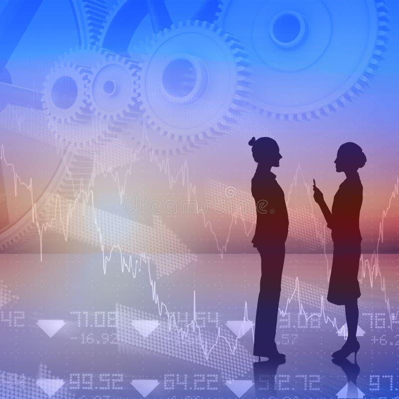 Zusammengesetztes Bild der Geschäftsfrauunterhaltung vektor abbildung