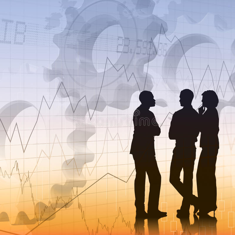 Zusammengesetztes Bild der Geschäftskollegeunterhaltung vektor abbildung