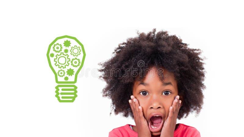 Zusammengesetztes Bild der Ideen- und Innovationsgraphik lizenzfreie stockbilder