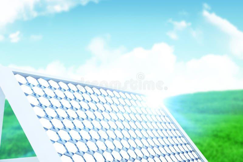 Zusammengesetztes Bild der Illustration der Sonnenkollektorausrüstung stockfotografie