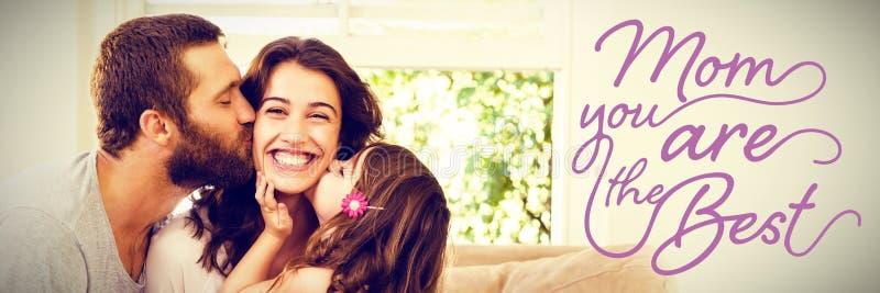 Zusammengesetztes Bild der Muttertagesmitteilung stockfotos