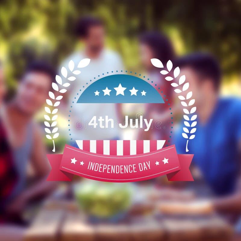 Zusammengesetztes Bild der Unabhängigkeitstaggraphik lizenzfreie abbildung