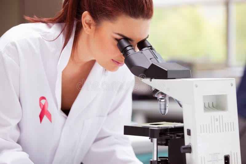 Zusammengesetztes Bild des Brustkrebsbandes lizenzfreies stockfoto