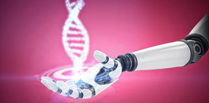 Zusammengesetztes Bild des Digitalbilds der Roboterhand lizenzfreie abbildung
