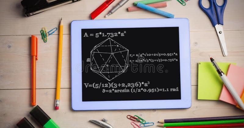 Zusammengesetztes Bild des Geometrieproblems stockfotografie