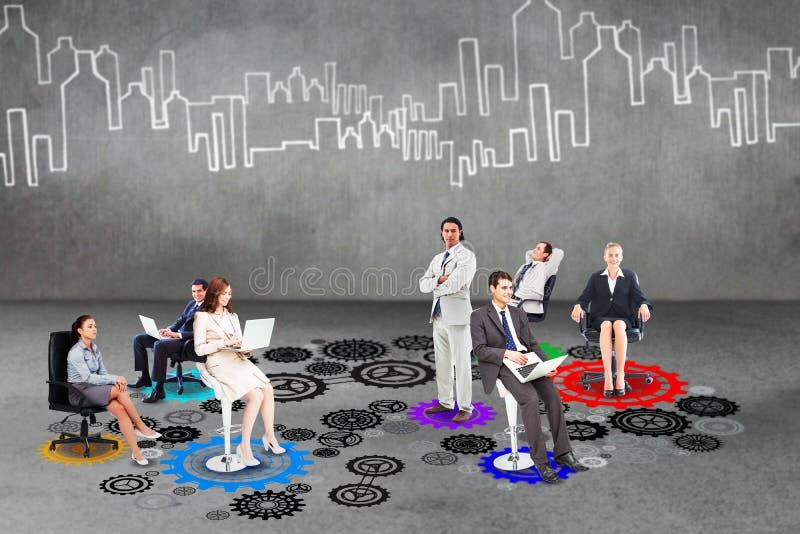 Zusammengesetztes Bild des Geschäftsteams lizenzfreie stockbilder