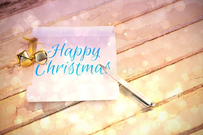 Zusammengesetztes Bild des glücklichen Weihnachten lizenzfreie abbildung