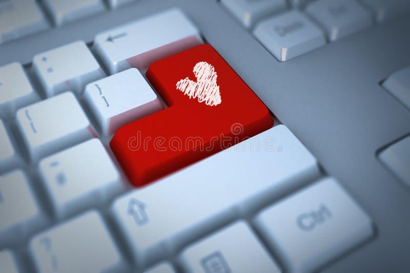 Zusammengesetztes Bild des Liebesherzens lizenzfreie abbildung