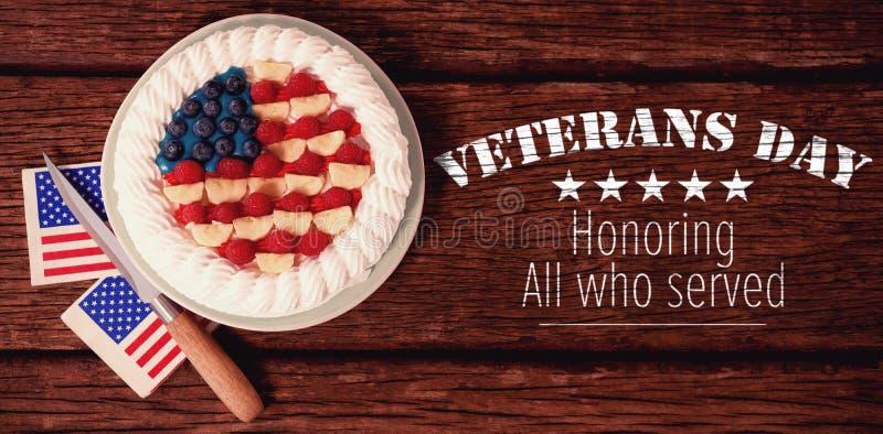 Zusammengesetztes Bild des Logos für Veteranentag in Amerika vektor abbildung