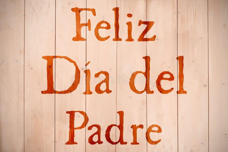 Zusammengesetztes Bild des Wortes Feliz dia Del padre stockbilder