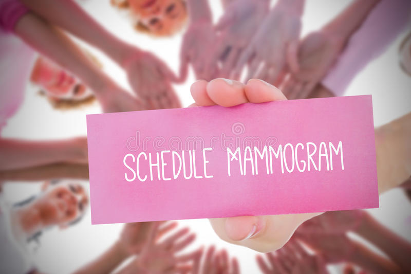 Zusammengesetztes Bild für Brustkrebsbewusstsein lizenzfreie stockfotografie