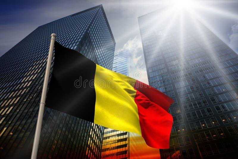 Zusammengesetztes Bild von Belgien-Staatsflagge lizenzfreie abbildung