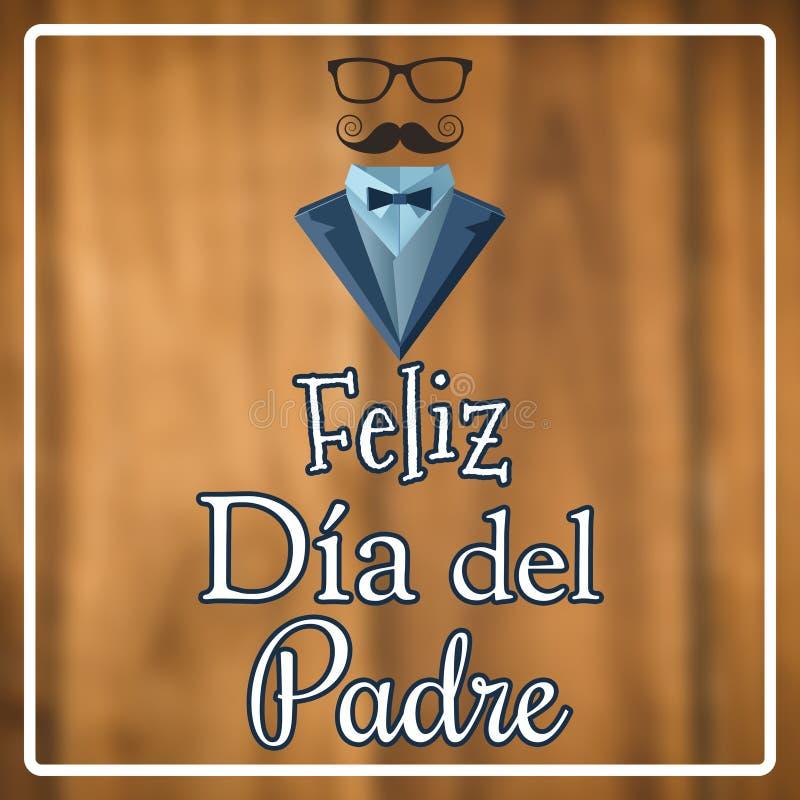 Zusammengesetztes Bild von Feliz dia Del padre vektor abbildung