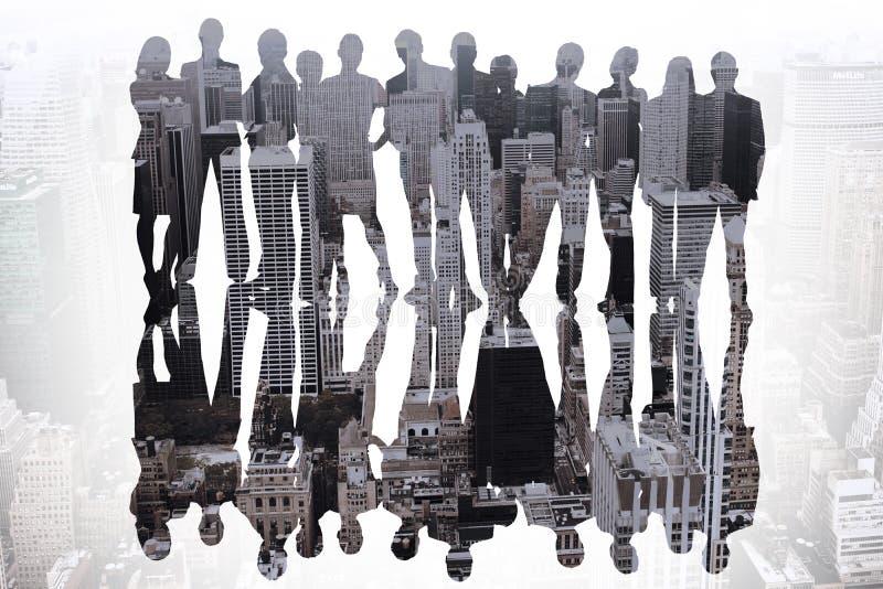 Zusammengesetztes Bild von Geschäftsleuten stockfotografie