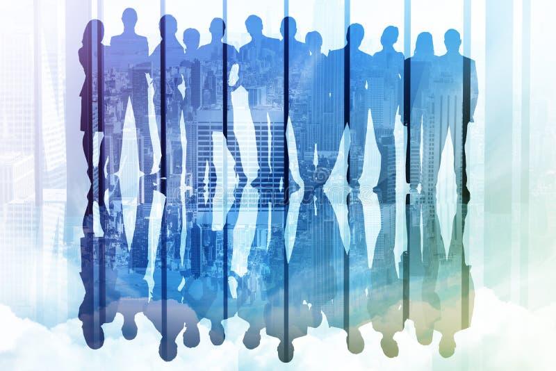 Zusammengesetztes Bild von Geschäftsleuten stock abbildung