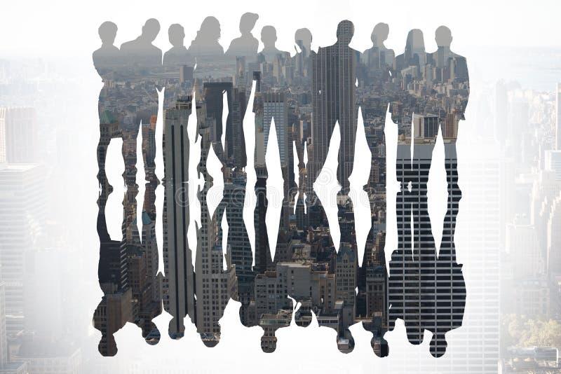 Zusammengesetztes Bild von Geschäftsleuten lizenzfreie stockbilder