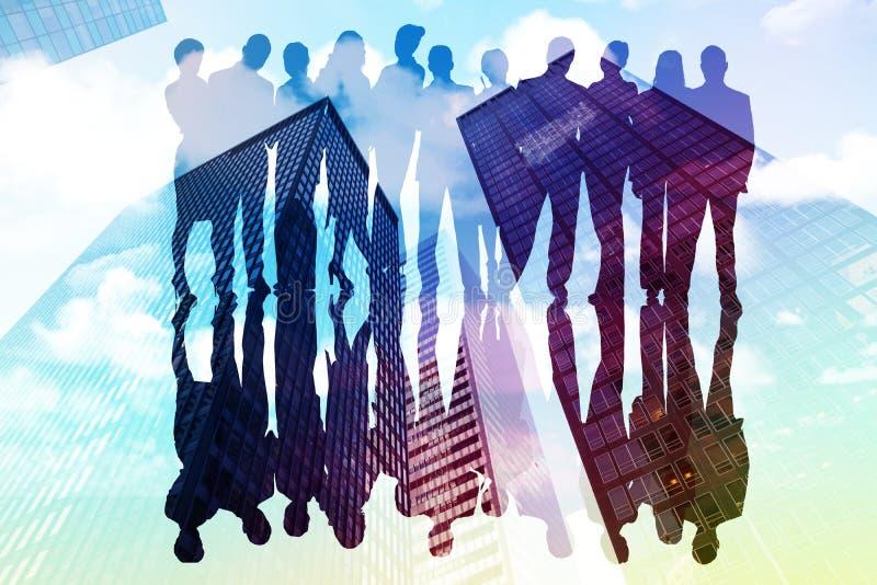 Zusammengesetztes Bild von Geschäftsleuten lizenzfreie abbildung