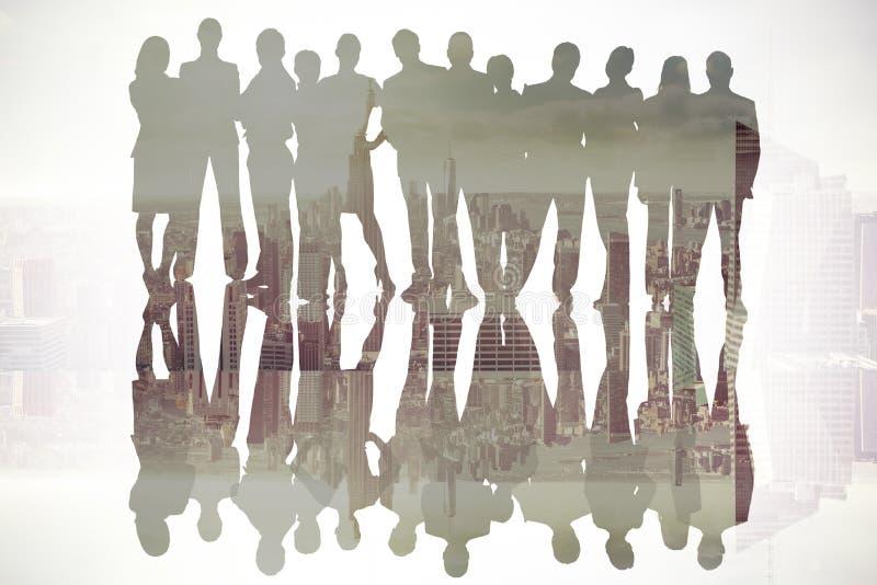 Zusammengesetztes Bild von Geschäftsleuten stockbilder