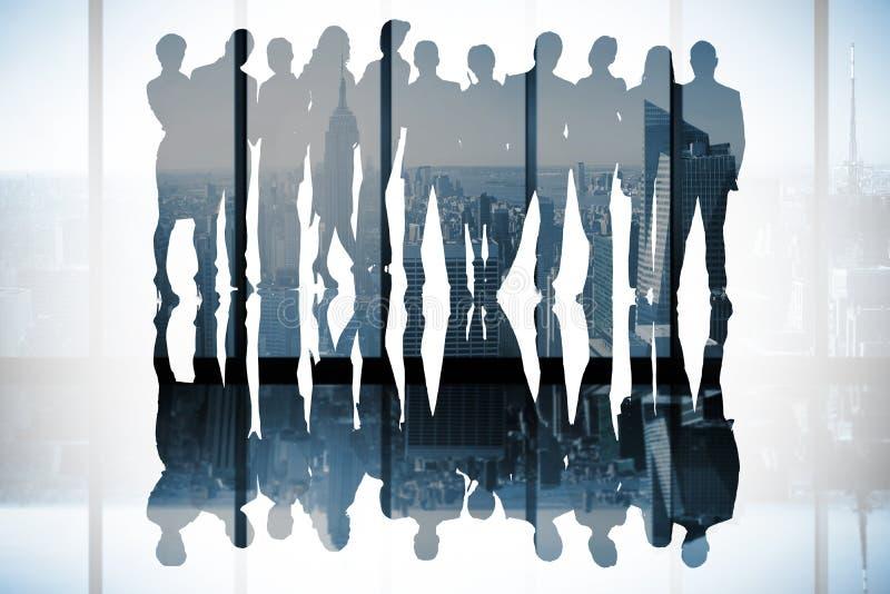 Zusammengesetztes Bild von Geschäftsleuten stockbild