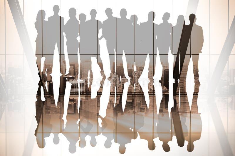 Zusammengesetztes Bild von Geschäftsleuten vektor abbildung