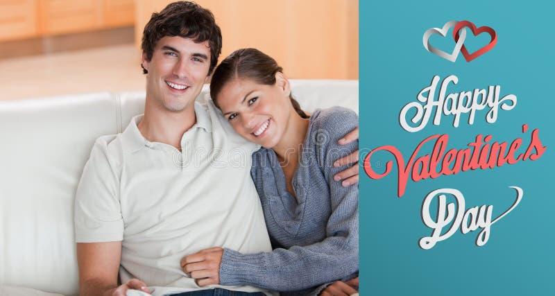Zusammengesetztes Bild von netten Valentinsgrußpaaren vektor abbildung
