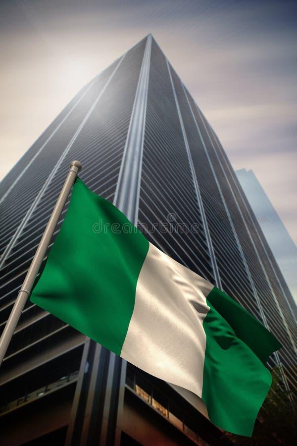 Zusammengesetztes Bild von Nigeria-Staatsflagge stockfoto