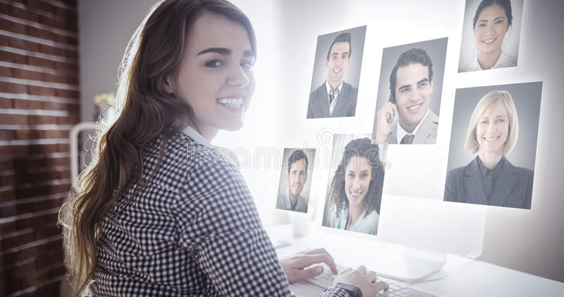 Zusammengesetztes Bild von Profilbildern lizenzfreies stockfoto