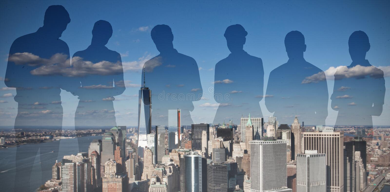Zusammengesetztes Bild von Schattenbildern stockbilder