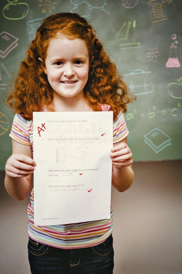 Zusammengesetztes Bild von Schulfachgekritzeln stockfotografie