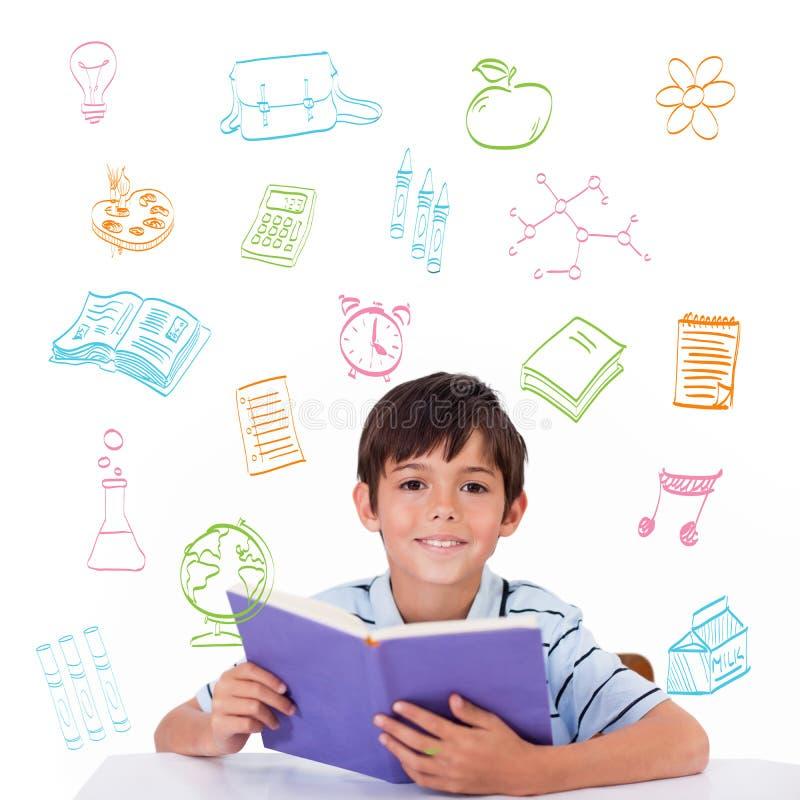 Zusammengesetztes Bild von Schulgekritzeln lizenzfreie stockfotografie